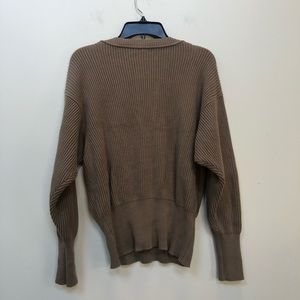 Free People Sweaters - Free People Allure Tan V Neck Sweater S